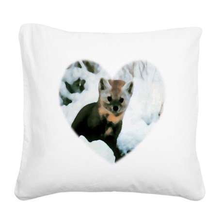 baby fox Square Canvas Pillow