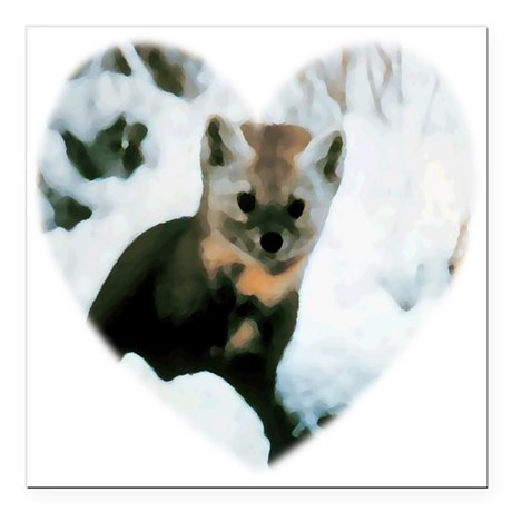 "baby fox Square Car Magnet 3"" x 3"""