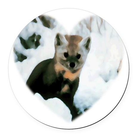 baby fox Round Car Magnet