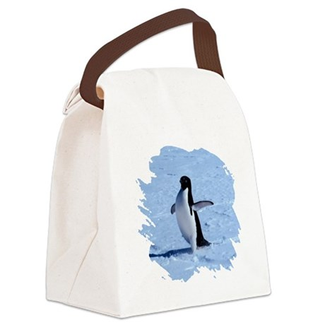 penguin Canvas Lunch Bag