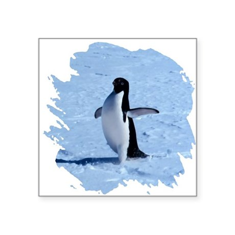 "penguin Square Sticker 3"" x 3"""