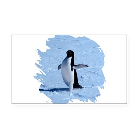 penguin Rectangle Car Magnet