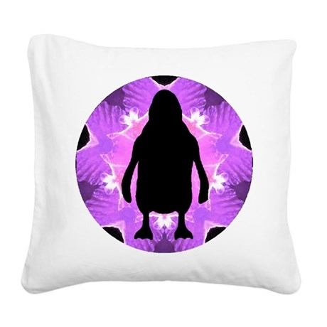 Penguin Square Canvas Pillow