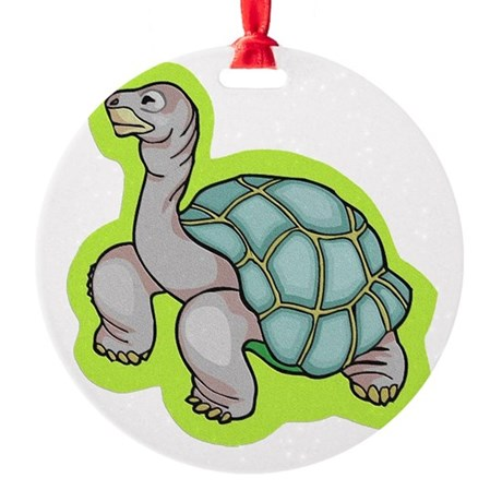 turtle.png Round Ornament