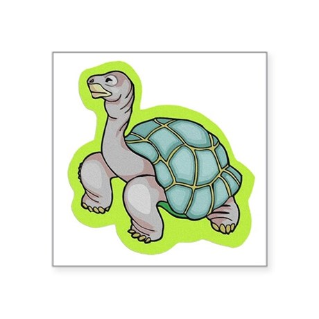 "turtle.png Square Sticker 3"" x 3"""