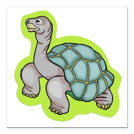 "turtle.png Square Car Magnet 3"" x 3"""