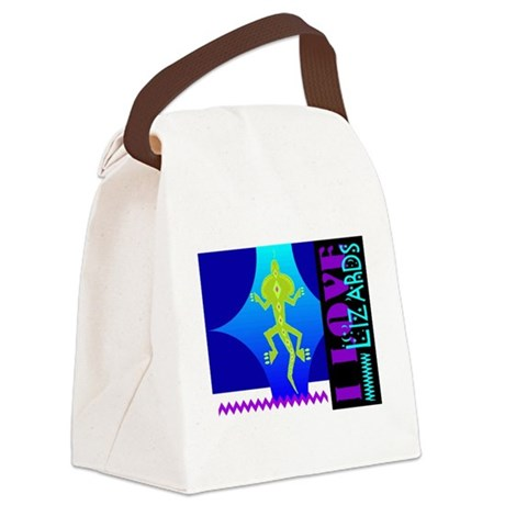 lizards.png Canvas Lunch Bag