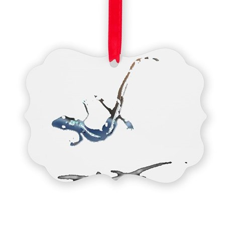 gecko newt lizard Picture Ornament