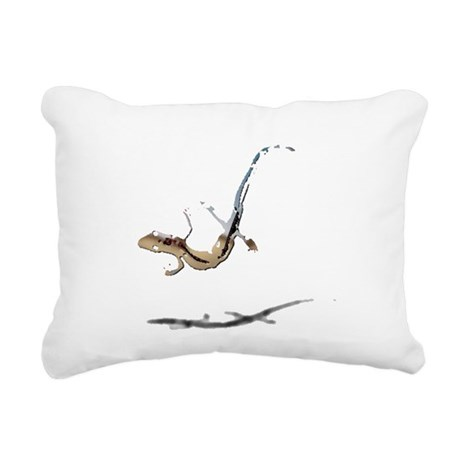gecko newt lizard Rectangular Canvas Pillow