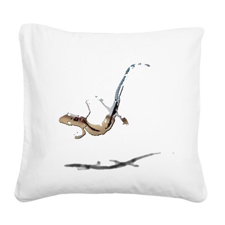 gecko newt lizard Square Canvas Pillow
