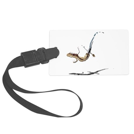 gecko newt lizard Large Luggage Tag