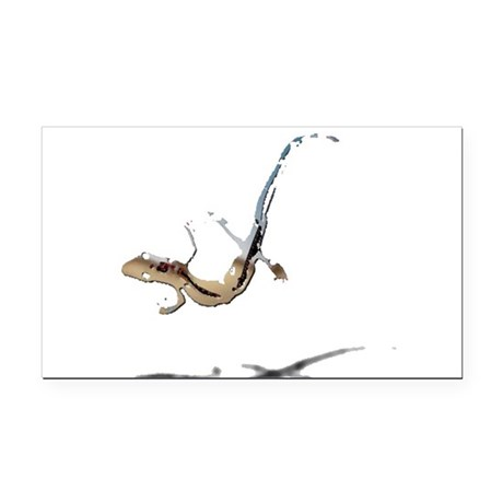 gecko newt lizard Rectangle Car Magnet