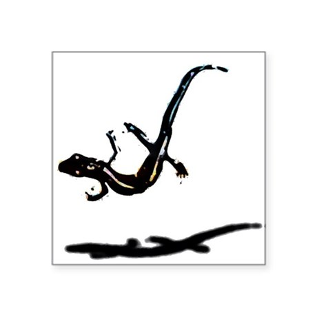 "gecko newt lizard Square Sticker 3"" x 3"""