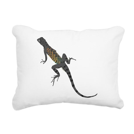 lizard1.png Rectangular Canvas Pillow