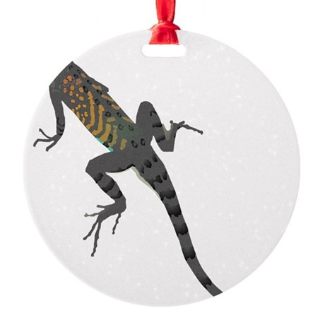 lizard1.png Round Ornament
