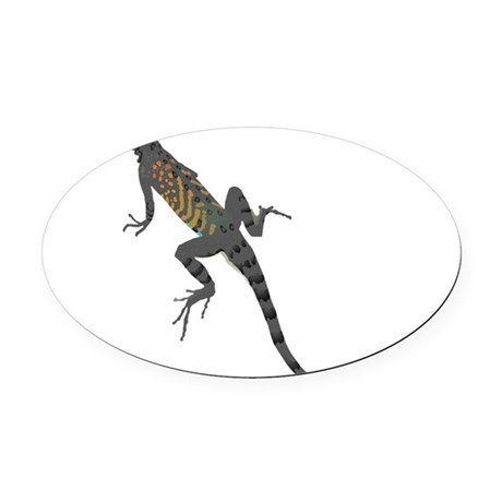 lizard1.png Oval Car Magnet