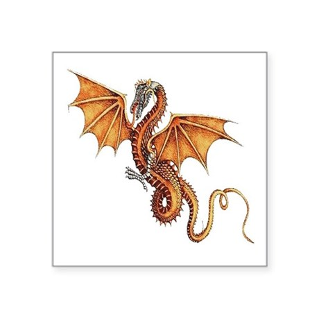 "dragon10.png Square Sticker 3"" x 3"""