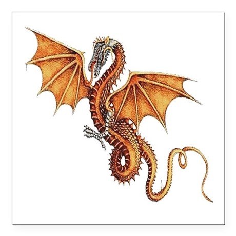 "dragon10.png Square Car Magnet 3"" x 3"""