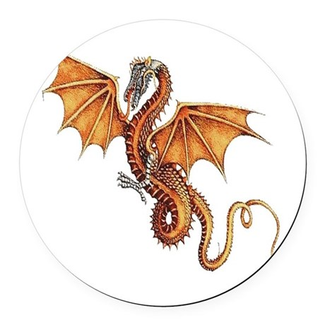 dragon10.png Round Car Magnet