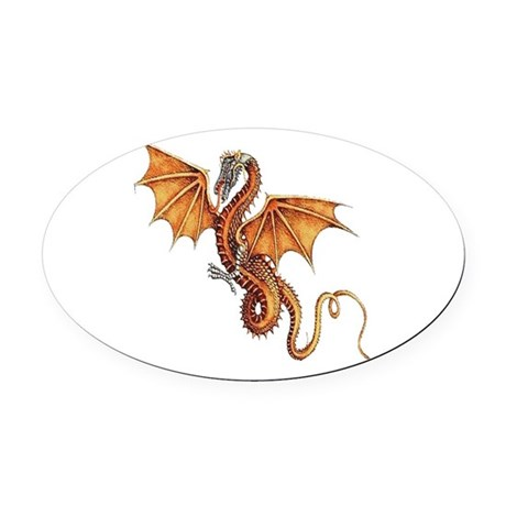 dragon10.png Oval Car Magnet