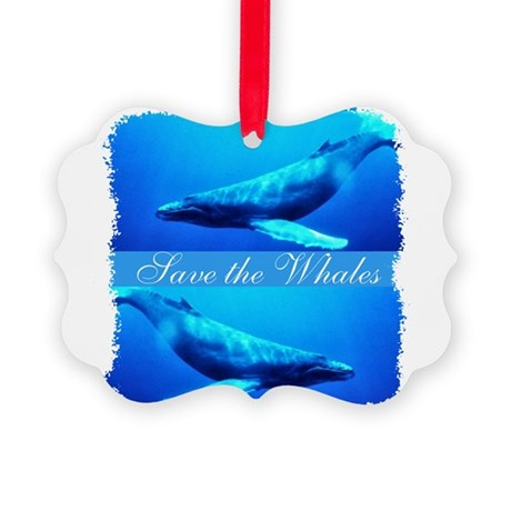 whales4.png Picture Ornament