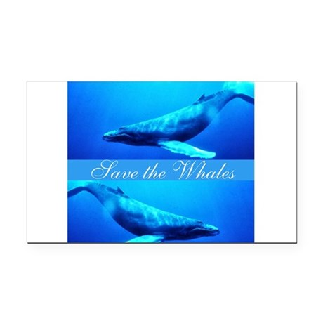 whales4.png Rectangle Car Magnet