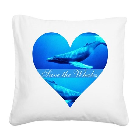 whales4a.png Square Canvas Pillow