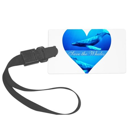 whales4a.png Large Luggage Tag