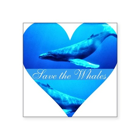"whales4a.png Square Sticker 3"" x 3"""