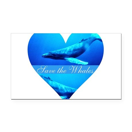 whales4a.png Rectangle Car Magnet