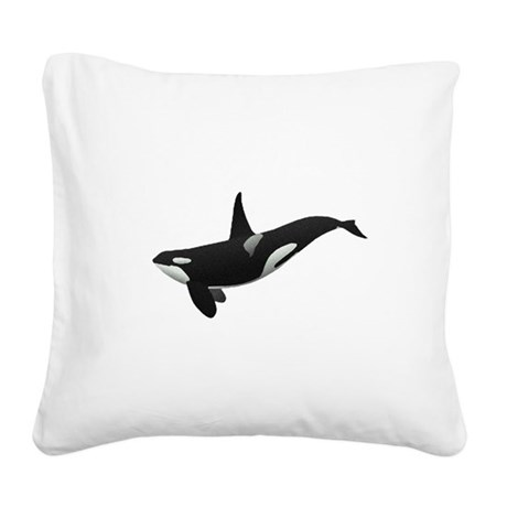 orca.png Square Canvas Pillow