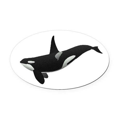 orca.png Oval Car Magnet