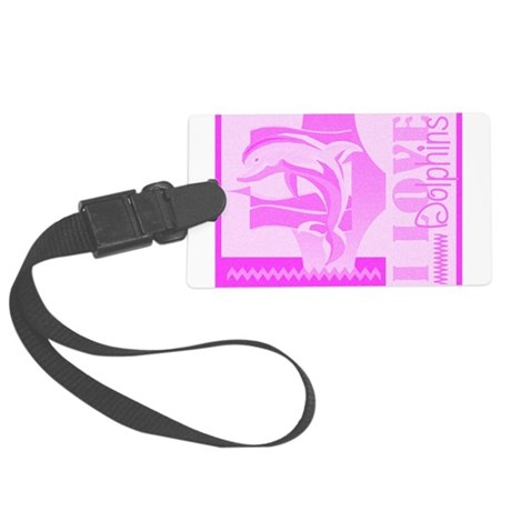 dolphinsab.jpg Large Luggage Tag