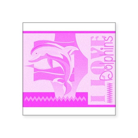 "dolphinsab.jpg Square Sticker 3"" x 3"""