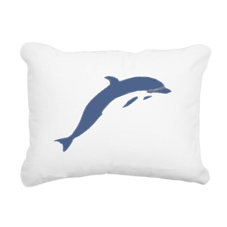 dolphin Rectangular Canvas Pillow