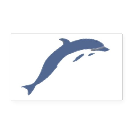 dolphin Rectangle Car Magnet