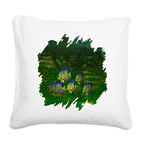 fish6a2.png Square Canvas Pillow