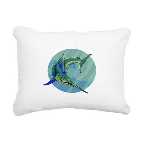 sailfish2.png Rectangular Canvas Pillow