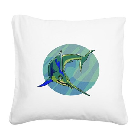 sailfish2.png Square Canvas Pillow