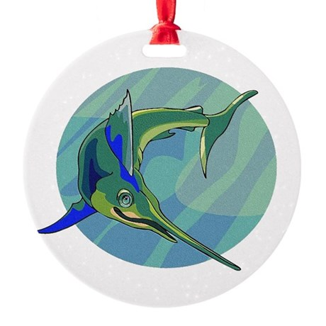 sailfish2.png Round Ornament