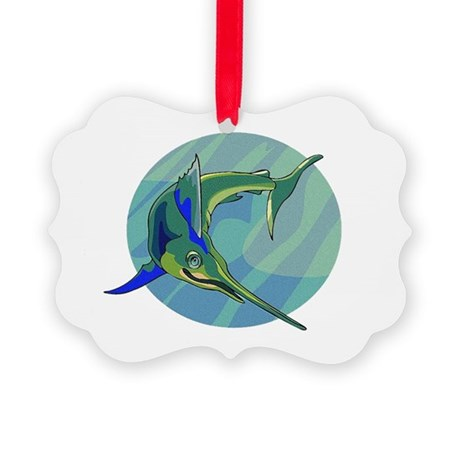 sailfish2.png Picture Ornament