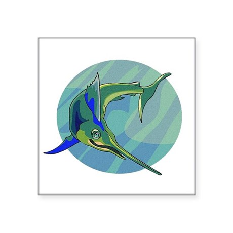"sailfish2.png Square Sticker 3"" x 3"""