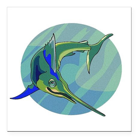 "sailfish2.png Square Car Magnet 3"" x 3"""