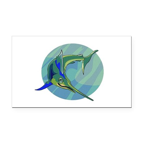 sailfish2.png Rectangle Car Magnet