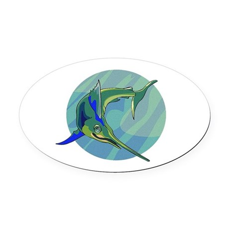 sailfish2.png Oval Car Magnet