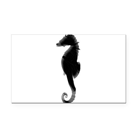 Seahorse Rectangle Car Magnet