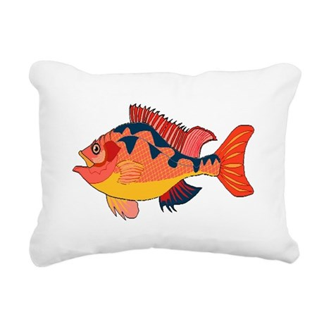 fish Rectangular Canvas Pillow