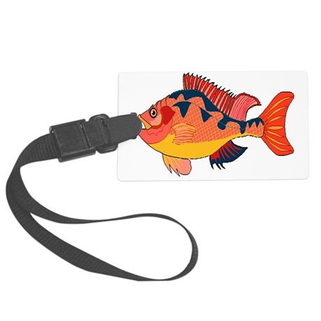 fish Large Luggage Tag