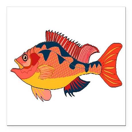 "fish Square Car Magnet 3"" x 3"""