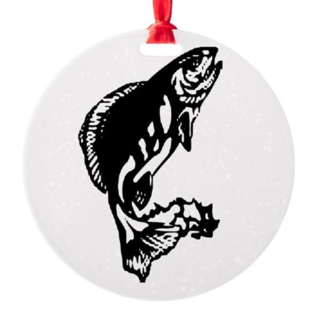 fish1.jpg Round Ornament